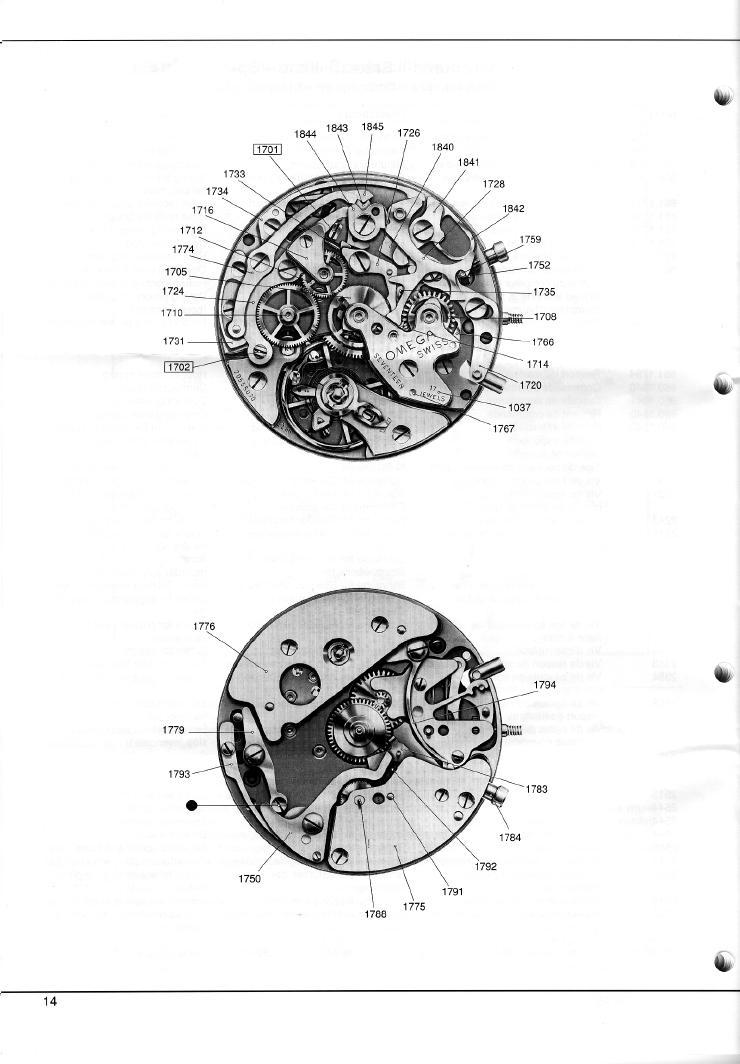 Omega c.861 Chronograph Service Manual