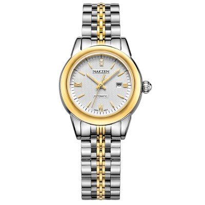 silver and gold luxury women's watch
