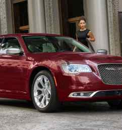 display a woman entering a 2019 chrysler 300c with polished aluminum wheels and a platinum grille [ 1440 x 731 Pixel ]
