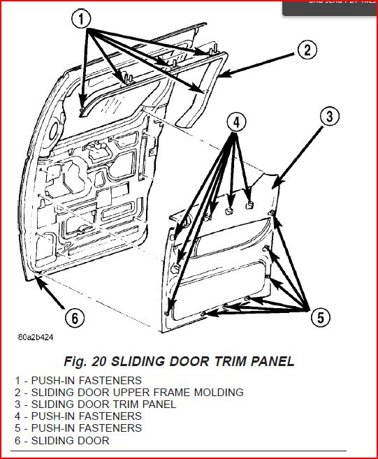Service manual [2000 Chrysler Grand Voyager Removing Inner