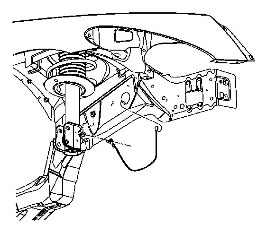 2005 Chrysler PT Cruiser Strap. Ground. Right. Repairs