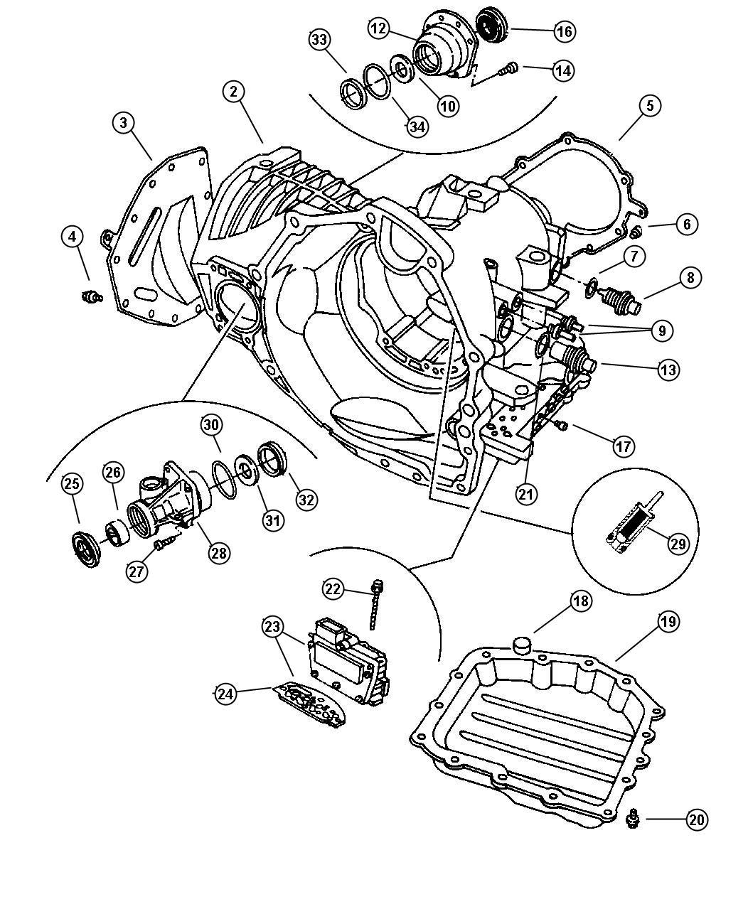 Chrysler Town & Country Solenoid module, solenoid package