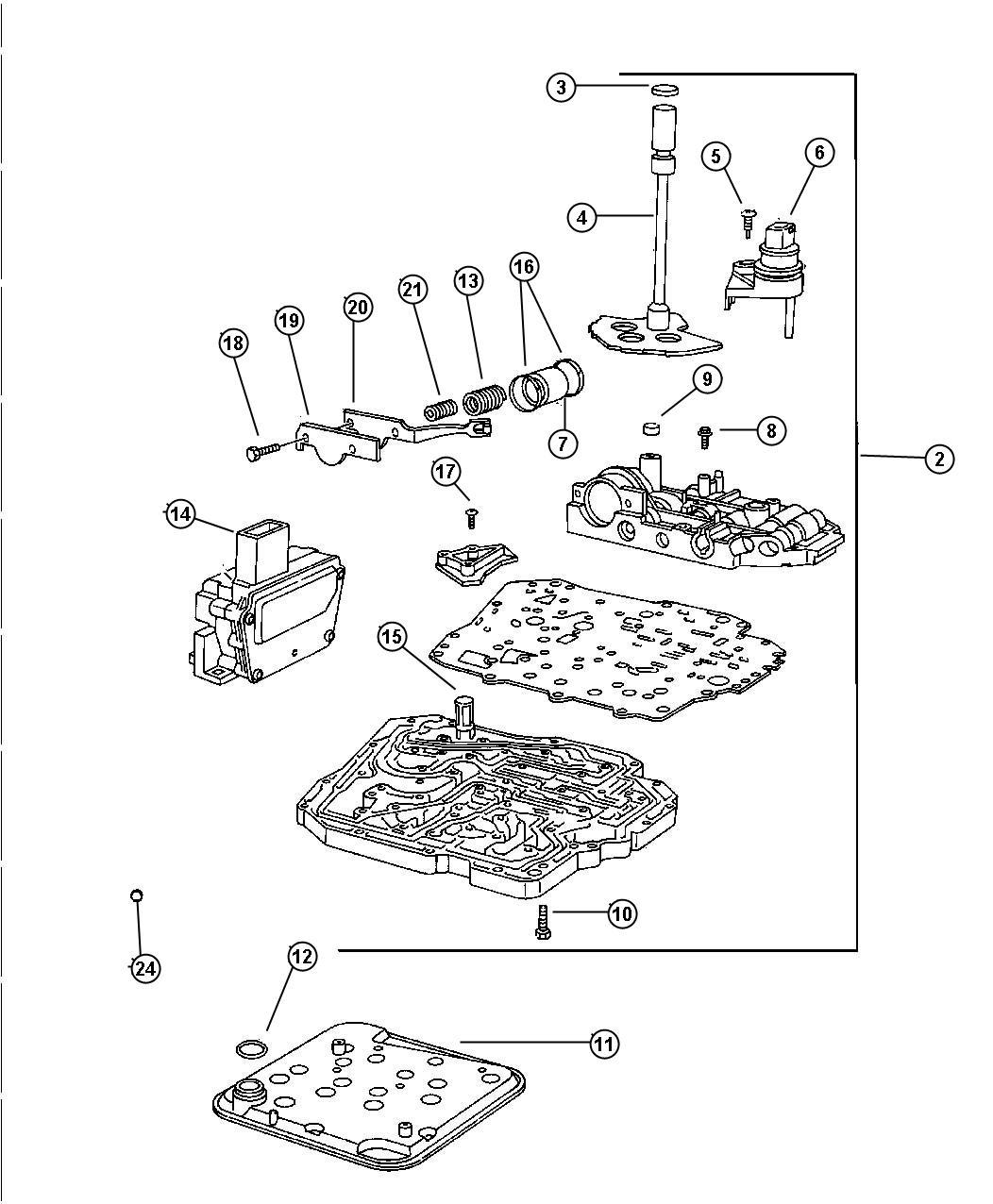 42rle Transmission Valve Body Diagram