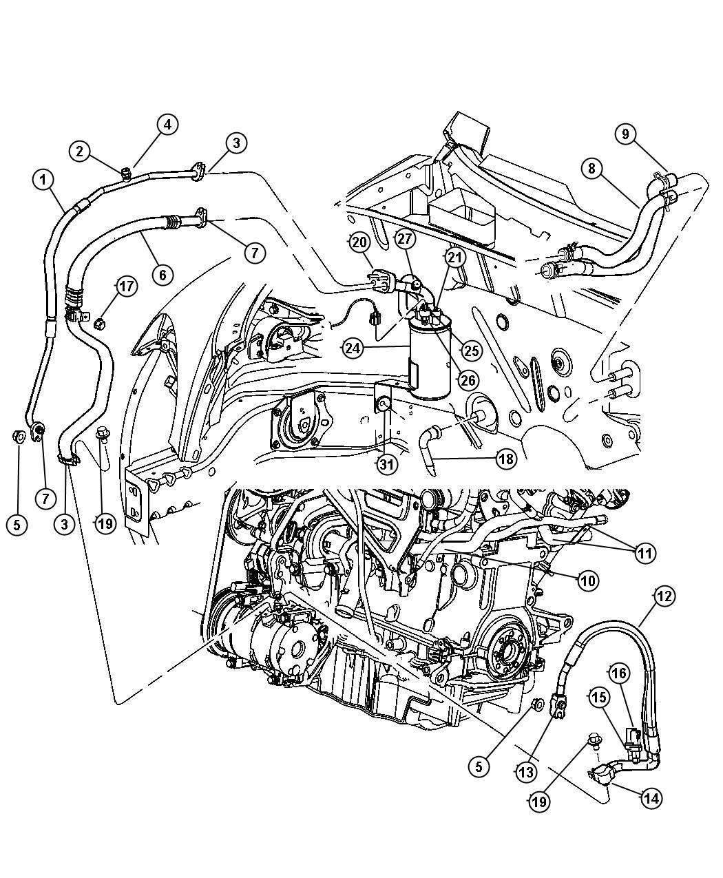 Chrysler Pt Cruiser Tube Drain Heater Engine