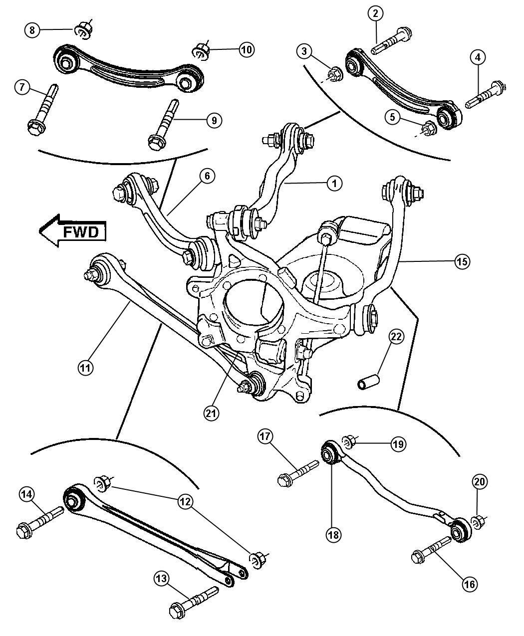 Chrysler 300 Link Assembly Tension Link Suspension