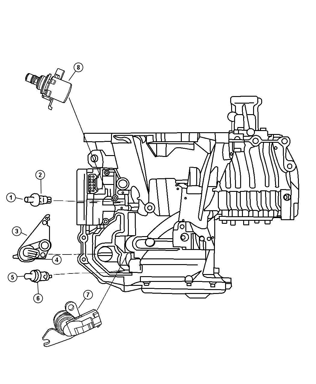2007 Chrysler Pacifica Sensor, solenoid. Trans variable