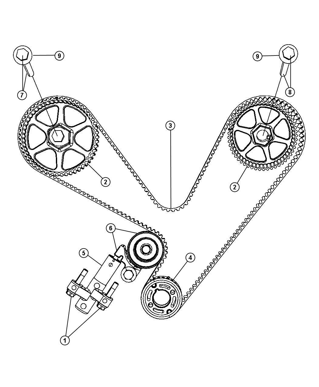 Chrysler Pacifica Gear Sprocket Camshaft Right Right