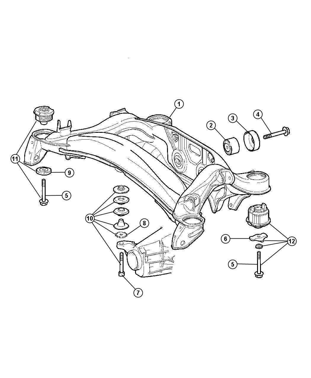 Chrysler Crossfire Fastener Kit Suspension Rear