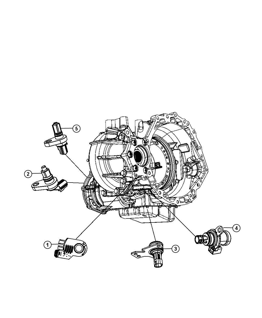 2008 Chrysler Pacifica Sensor. Trans variable force
