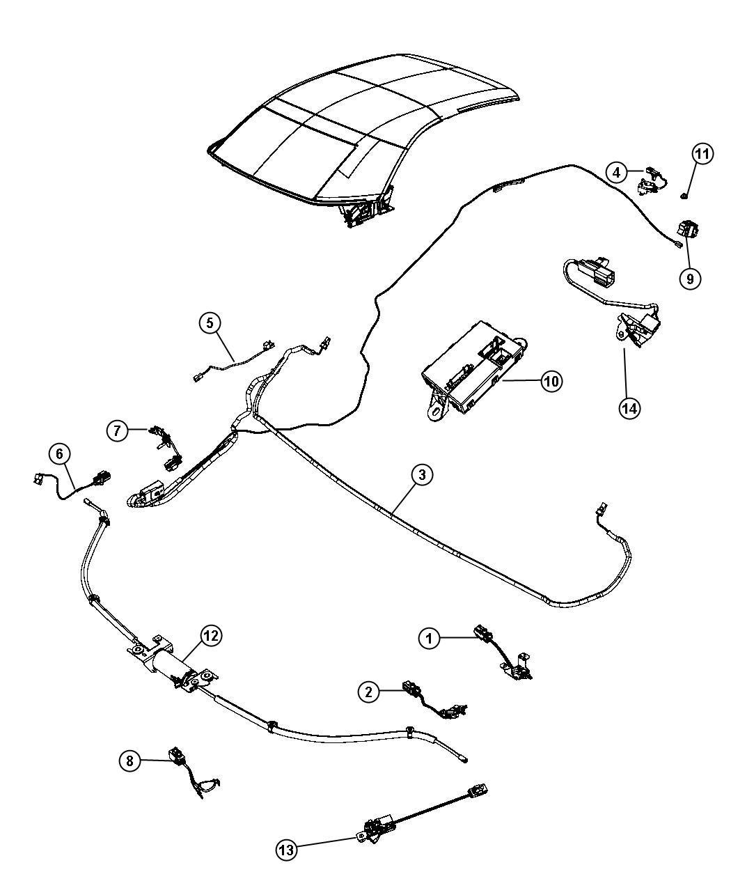 Chrysler Sebring Switch. Folding top. Trim: [no