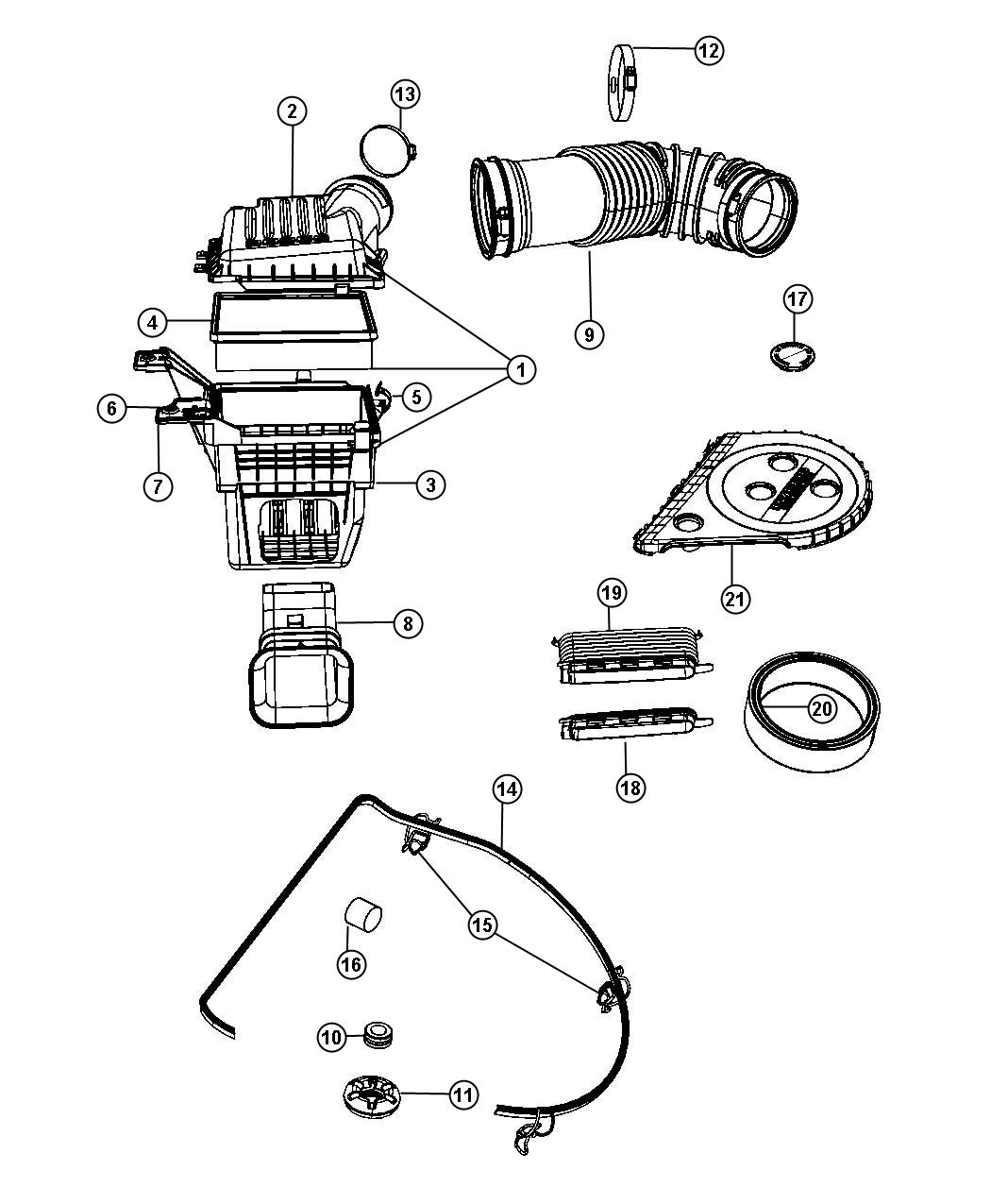 Chrysler 300 Latch Air Cleaner Export Argentina