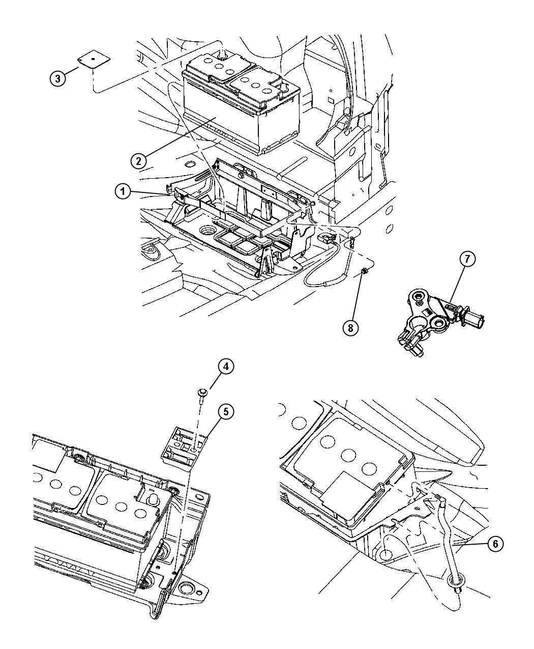 Chrysler 300 Sensor. Battery. Start, system, free