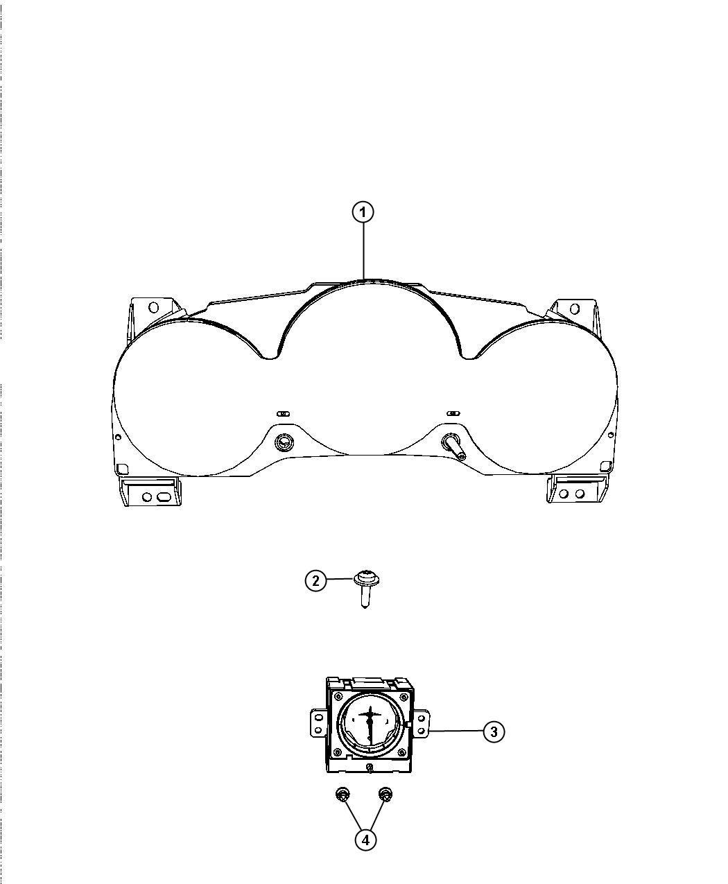 Chrysler Sebring Cluster. Instrument panel. [140 mph