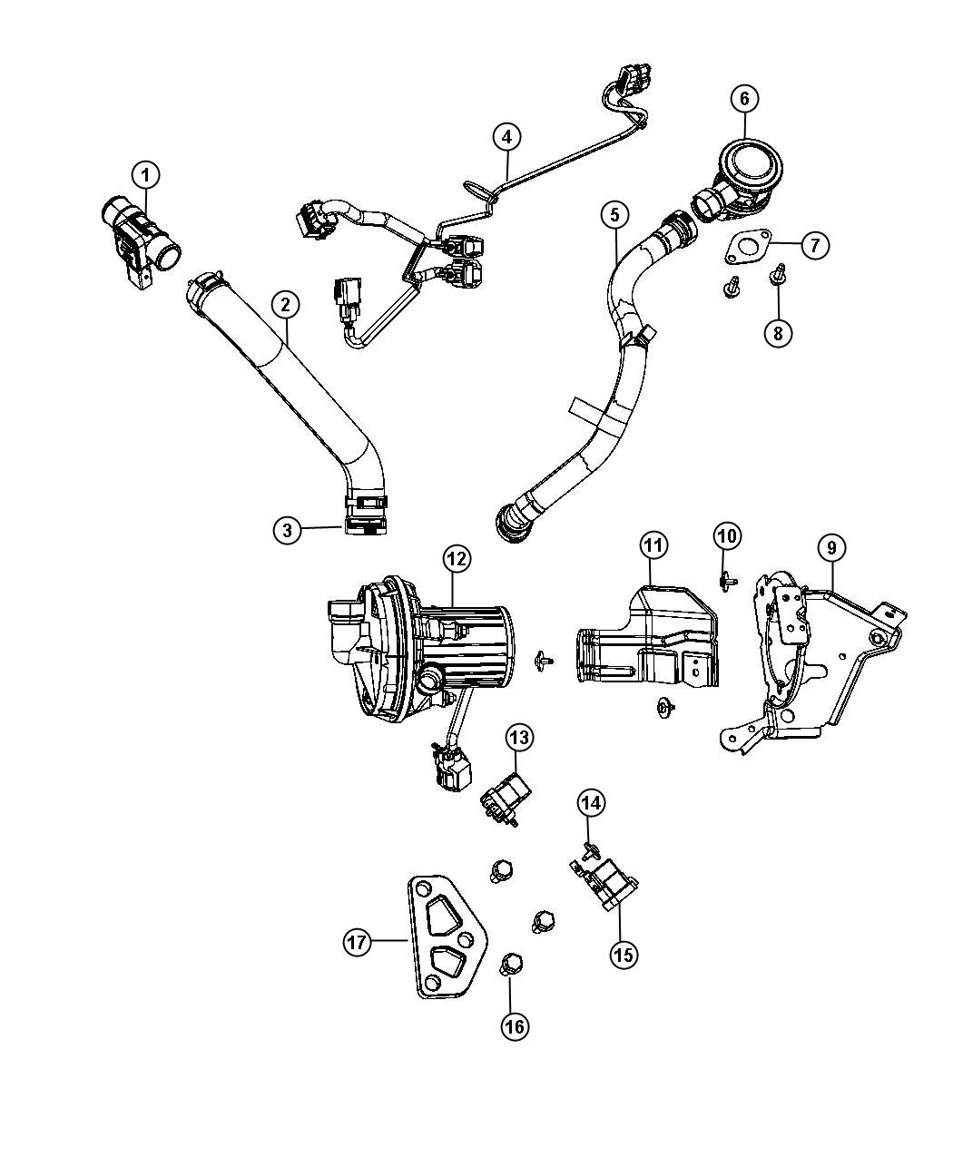 2013 Chrysler Town & Country Relay. Radiator fan