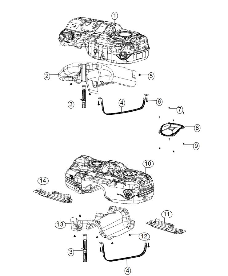 Chrysler 200 Tank. Fuel. Pzev, system, gallons
