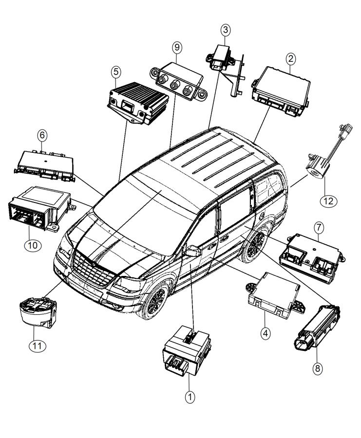 2015 Chrysler Town & Country Module. Multimedia. Lower