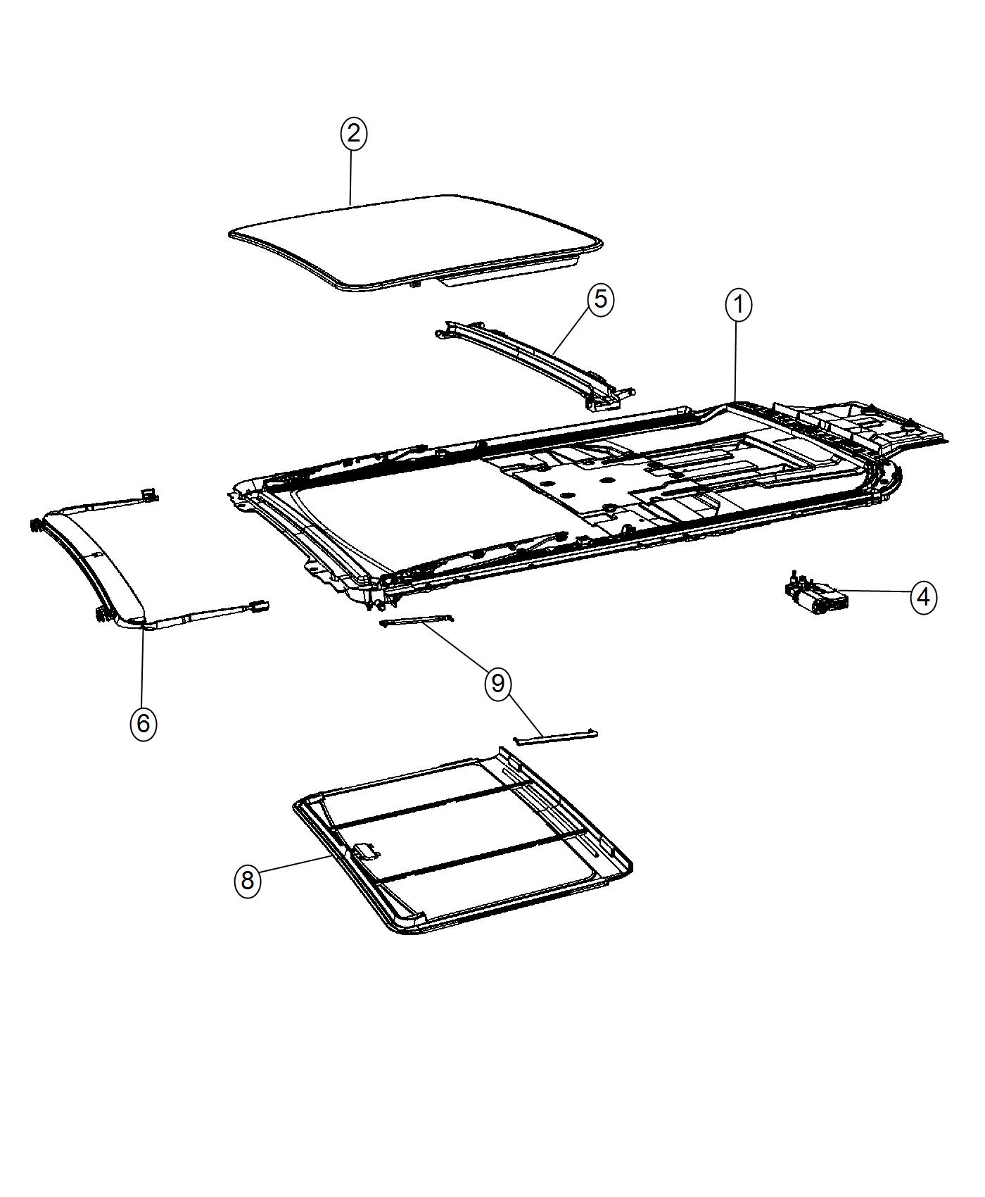 Chrysler Town Amp Country Seal Sunroof Glass Trim