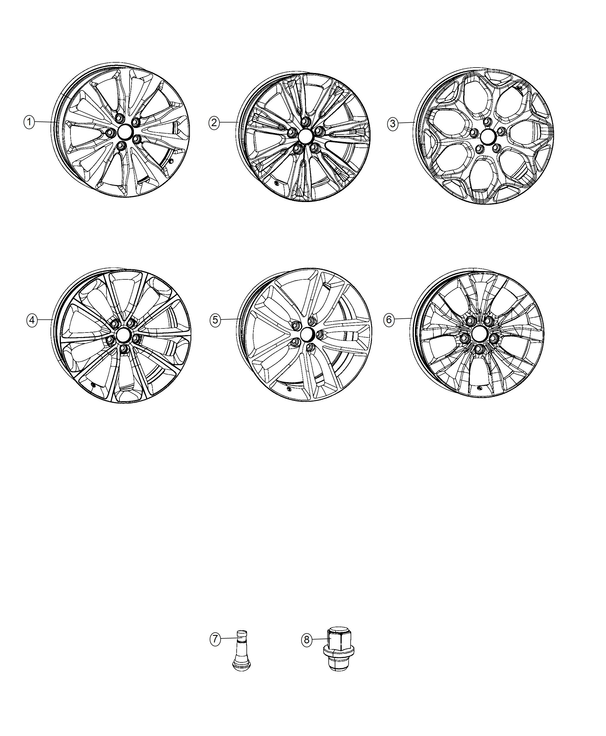 Chrysler 300 Wheel. Aluminum. Front or rear. Color: [no