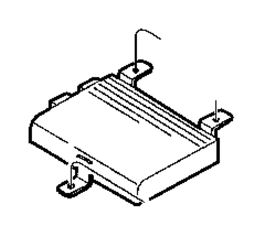 1999 Chrysler Sebring Amplifier. Radio. Speakers, infinity