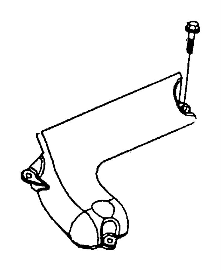 2000 Chrysler Concorde Shield. Exhaust manifold. Upper