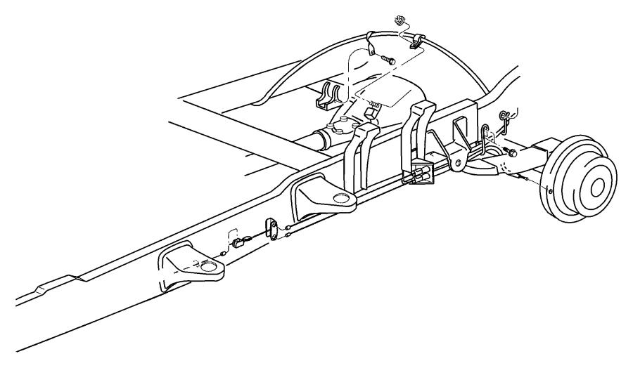 2000 Chrysler Sebring Cable. Parking brake. Front. Pump