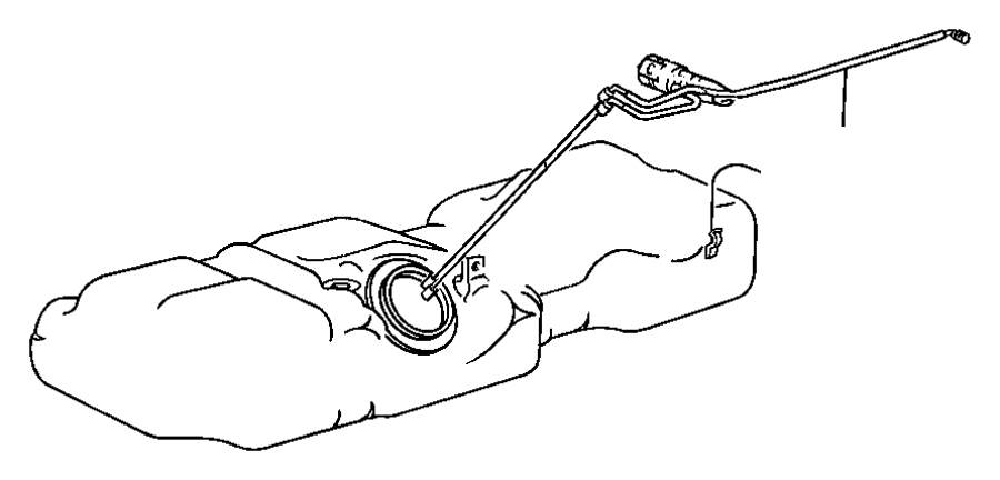 Chrysler Town & Country Tube. Fuel supply. Line fuel line