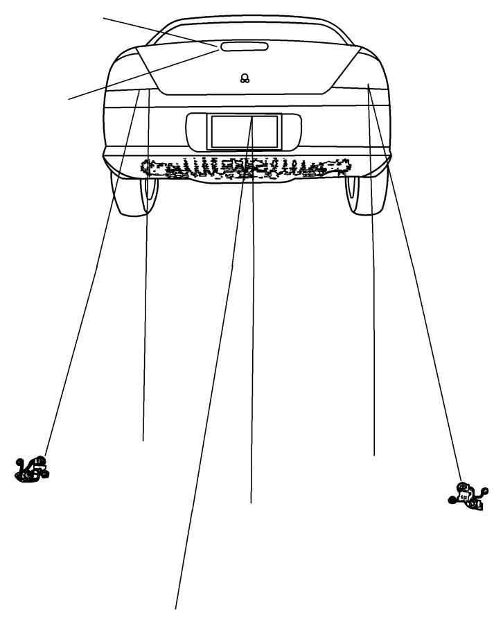 2005 Chrysler Sebring Lamp. Tail stop turn. Lamps