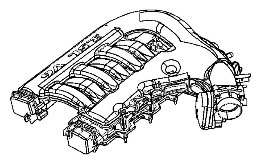 Chrysler 300 Actuator kit. Secondary runner valve. Intake