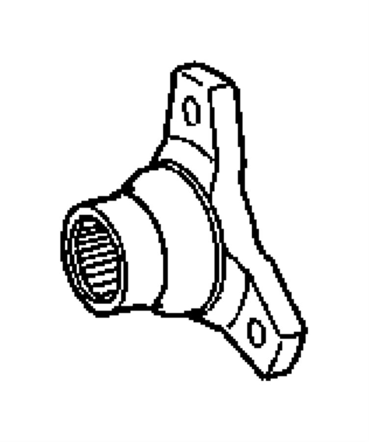 2005 Chrysler Crossfire Yoke. Drive shaft. Case, extension