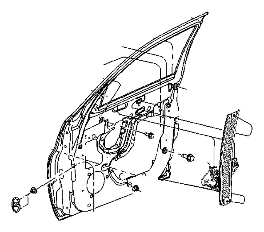 2008 Chrysler PT Cruiser Regulator. Front door window