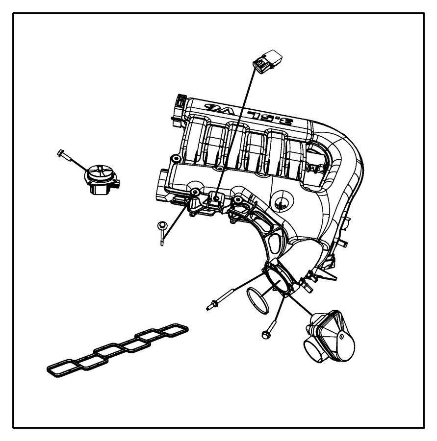 Chrysler 300 Actuator. Intake short running valve. Egg