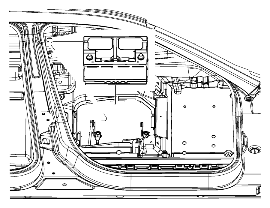 2015 Chrysler 200 Battery. Storage. Us. [700 amp