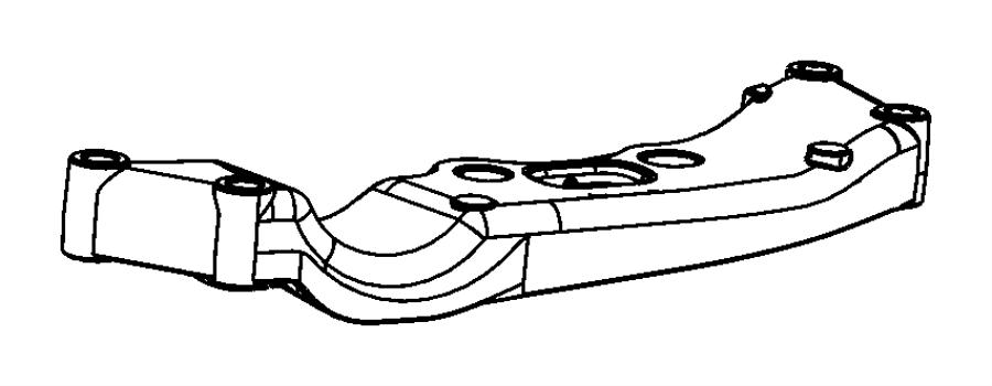 2008 Chrysler 300 Crossmember. Transmission. Mount to