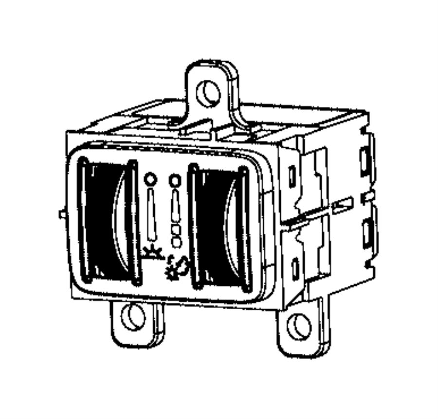 Chrysler Town & Country Module. Lighting control. Rail