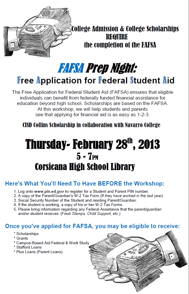 CHS Student Connection : FAFSA Prep Night