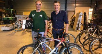 Don de vélos Communauté de Communes Flandre Lys