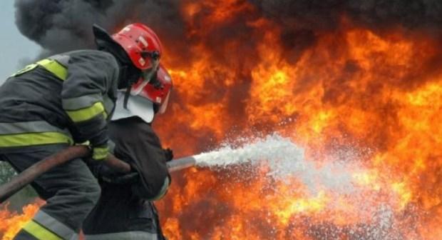 حريق مهول في معمل لصناعة أقمشة الأثاث