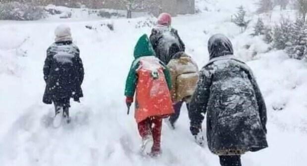 استئناف الدراسة في 865 مؤسسة تعليمية بعد سوء أحوال الطقس