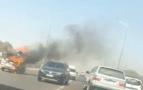 أيت ملول..النيران تلتهم سيارة لنقل البضائع بالقرب من القطب الجامعي