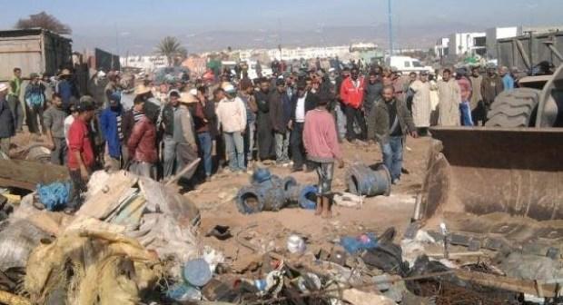 سلطات إنزكان تمنع وقفة للتجار ضد هدم مسجد سوق المتلاشيات