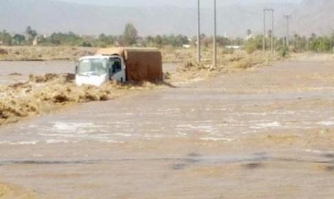 السيول القوية تجرف 3 أشخاص بشيشاوة