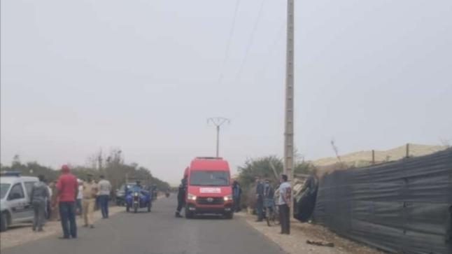 أيت عميرة..إصابات في صفوف عمال زراعيين بعد انقلاب سيارة بيكوب