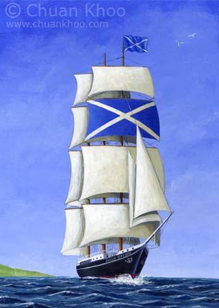 Scottish Ship by Chuan Khoo  Illustrator General Illustrations Page 1