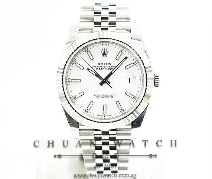 Rolex DateJust 41 126334 White Index :: Chuan Watch