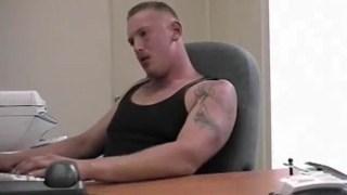 Tattooed Stud Jacks Himself Off On Cam