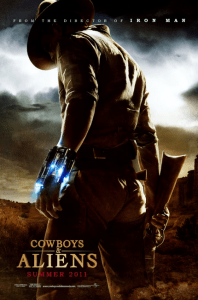 Movie poster for Cowboys and Aliens