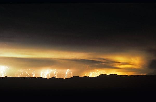 Intense lightning display at Glendive, Montana