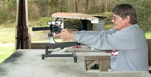 Shooting A Handgun From A Bench Rest