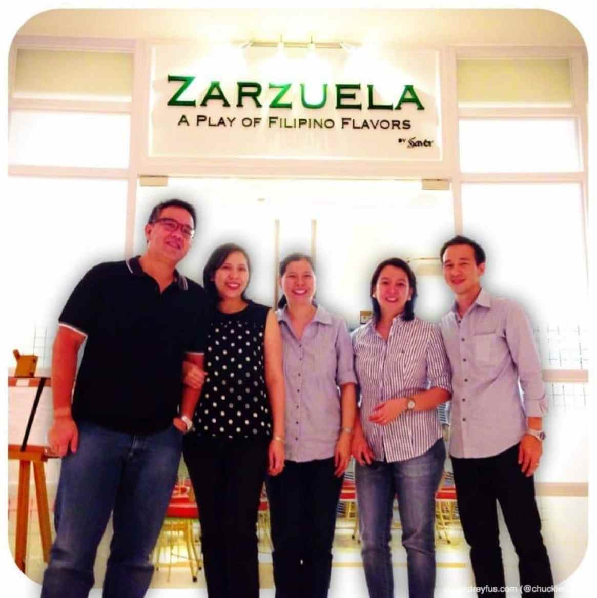 The wonderful people behind Zarzuela: (L-R) Juanito & Trina Imperial, Raquel Sian-Estrella, Mel Dumlao and Owen Gan