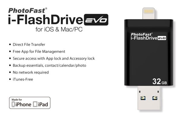 PhotoFast i-FlashDrive HD devices